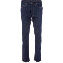 Levi's Mens 505 Orange Tab Slim Fit Jeans Dark Blue