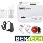 Bezdrátový GSM alarm BENTECH G02 - domovní set, CZ jazyk
