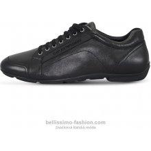 Kožené tenisky Emporio Armani černé