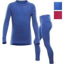 Devold Duo Active junior set triko dlouhý rukáv a kalhoty modrá royal