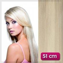 Clip in vlasy 51 cm - platinová blond #60