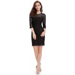 Krátké krajkové šaty s rukávem koktejlky černá e7ceb90cc0