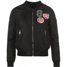 Goldigga bunda MA1 Bomber Jacket Ladies Badge černá