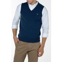 Gant Pánský svetr COTTON WOOL SLIPOVER modrá S