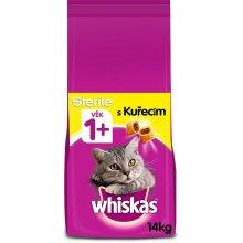 Whiskas Sterile granule s kuřecím pro kastrované kočky 14 kg