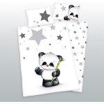 Herding povlečení Panda bílé 135x100 cm 40x60 cm