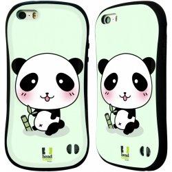 Pouzdro HEAD CASE Apple Iphone 5 5S vzor Roztomilá panda zelená ... c49e330197c