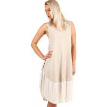 0f8cbbbbdd5 TopMode dámské plážové oversized šaty béžová