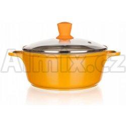 01ea64b52 Banquet hrnec s poklicí 20x8,5cm a silikonovým knobem Gourmet Ceramia ORANGE