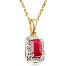 iZlato Forever Zlatý přívěsek s rubínem a diamanty 0 5ab391aefeb