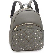 Anna Grace elegantní batoh s logem na přední straně šedý 55829456f8