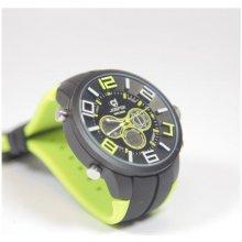 Quamer Sport Watch Black/Lime