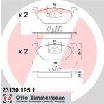 Brzdové destičky přední sada Škoda Octavia I (1U2, 1U5) - ZIMMERMANN