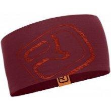 57e7b59459a Ortovox merino cool logo headband dark blood Červená čelenka