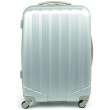 David Jones 1011 skořepinový kufr velký 52x29x76 cm Stříbrná
