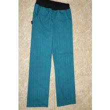e138a543c61 Fantom Kalhoty SOFTSHELL slim s bambusem petrolejově zelené