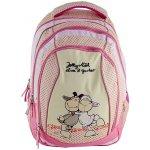 Školní batoh 2v1 Nici žluto-růžová dvě ovečky