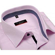 Eterna Modern Fit Twill – růžová košile s modro-bílým vnitřním límcem 496232cde7