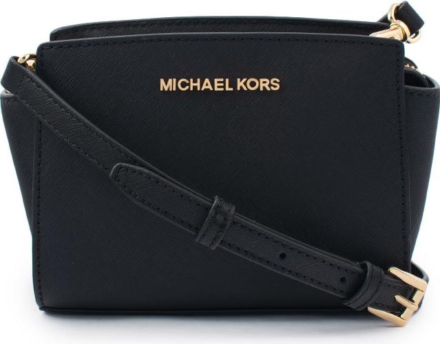 bd7ec56a33 Kabelka Michael Kors Selma Saffiano Leather Mini crossbody černá ...
