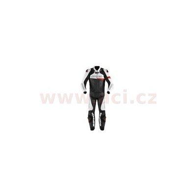 dvoudílná kombinéza RACE WARRIOR TOURING, SPIDI (černá/bílá/červená, vel. 52) Y145-014-52 Doprava Zdarma!