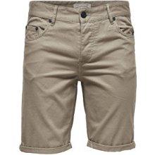 ONLY&SONS Pánské kraťasy Ply Colored shorts Sa 9920 Fallen Rock