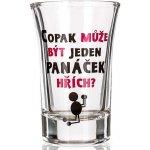 Nekupto Dárky s humorem Panák skleněný humorný Copak může být jeden panáček hřích? 0,04 l