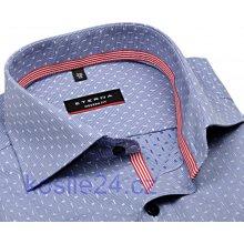 Eterna Modern Fit modro-Bílá košile s vetkaným vzorem s vnitřním límcem a  légou 82bd93122b