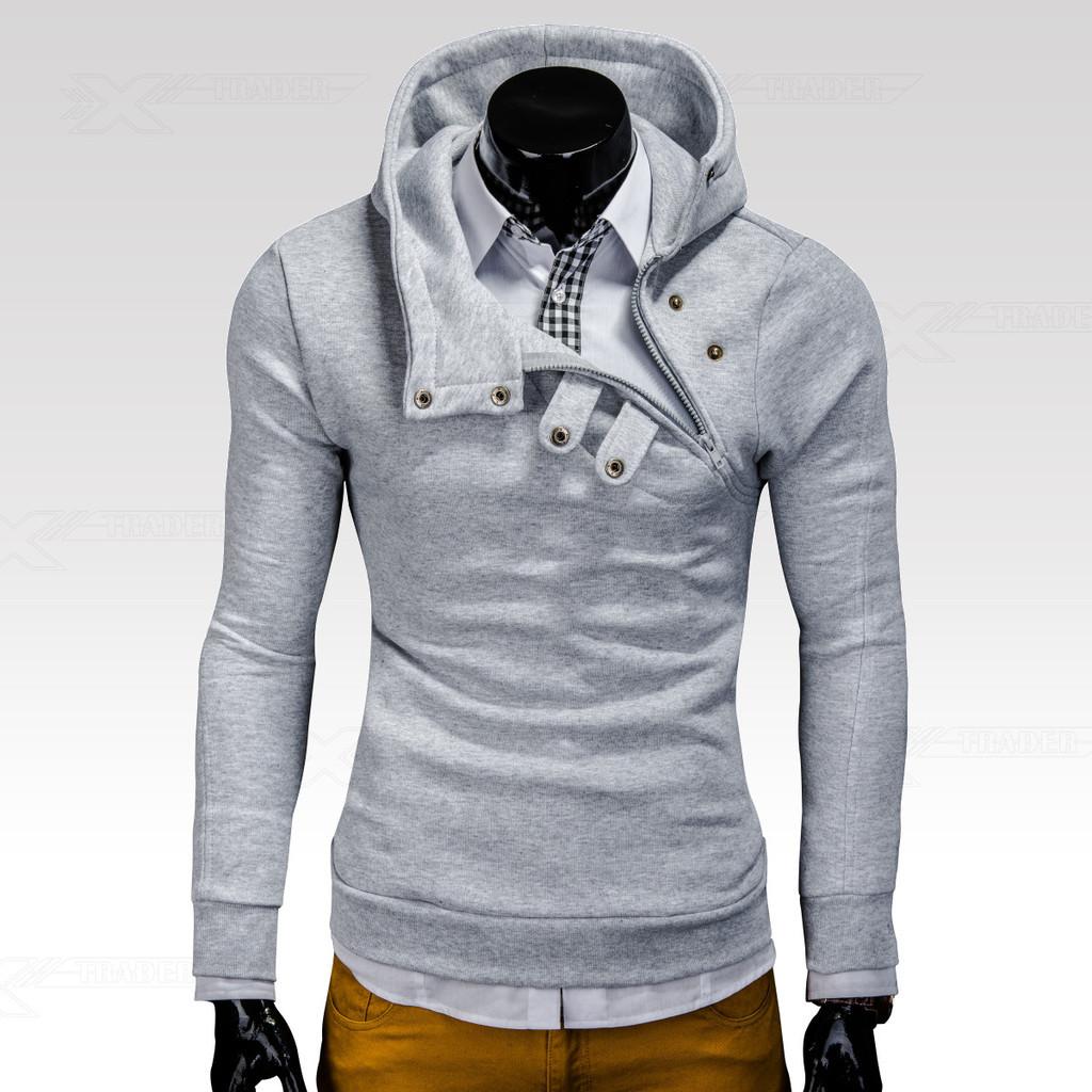 Ombre Clothing Mikina Paco šedá od 799 Kč - Heureka.cz 67410a0016