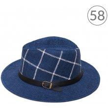 Art of Polo Fedora klobouk kostkovaný Modrá ecd65be2d3