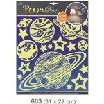 Pokojová dekorace svítící ve tmě planety 31x29 cm 603, Anděl Přerov