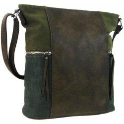 dámská crossbody kabelka s bočními kapsami AE-9025 Khaki zelená od ... b6e0df3b42b