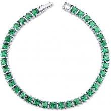 Eppi Princess smaragdy ve stříbrném náramku Andela BR34066