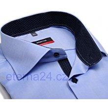 ee9ef5009f8 Eterna Comfort Fit Fine Oxford světle modrá košile s tmavě modrým vnitřním  límcem manžetou a légou