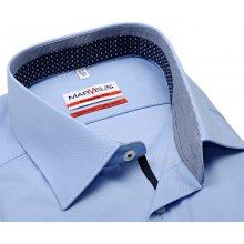 Marvelis Modern Fit – světle modrá košile s vetkaným vzorem a vnitřním  límcem a légou c673c66bc0