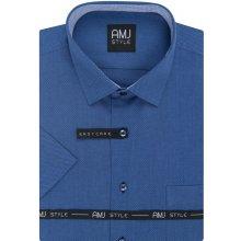 AMJ pánská košile tmavě modrá se síťovaným vzorem VKR976 d86f5a9eff