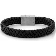 Trendhim Černý kožený náramek Jigsaw F9-2-14725