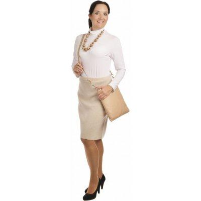 AL1750 dámská sukně do gumy světlý béž