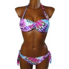 Dream plavky dvoudílné s kosticí fialová