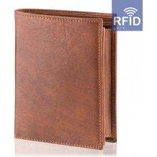 Pánská peněženka Malmo RFID, hnědá DK-081
