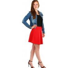 de9edc5c019c YooY jednobarevná áčková dámská krátká sukně červená 324477