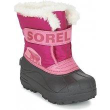 740fa57f4a5 Sorel Zimní boty Dětské CHILDRENS SNOW COMMANDER Růžová