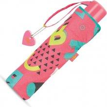 Cachemir Girl Memphis - skládací deštník s UV ochranou růžová