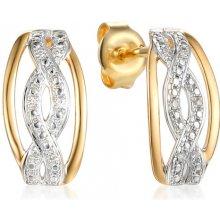 fa30b9521 iZlato Design zlaté náušnice s diamanty Maccey IZBR440