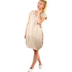 Volné dámské letní šaty na pláž 333048 béžová dámské šaty - Nejlepší ... 315d920f1b