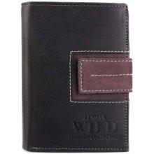 Always wild Kožené peněženky levné N4L-SQ Black