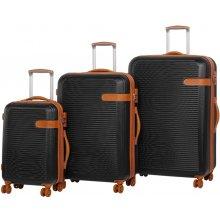 Sada cestovních kufrů ROCK TR-0159/3 ABS černá