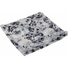 Hedvábný šátek s potiskem bílo-černý 0a87d44148