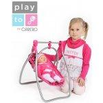 PlayTo Jídelní židlička a houpačka 2v1 pro panenky Isabella
