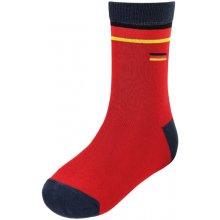 MAXIMO Hladké ponožky fotbal červeno tmavě modré