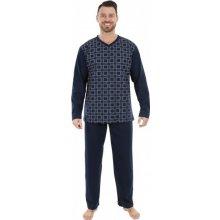 ab3c973ea0fb Evona 1403 pánské pyžamo dlouhé tm.modré